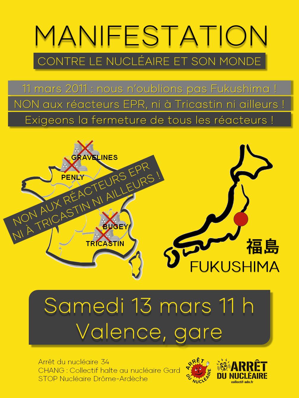 Manifestation contre le nucléaire et son monde